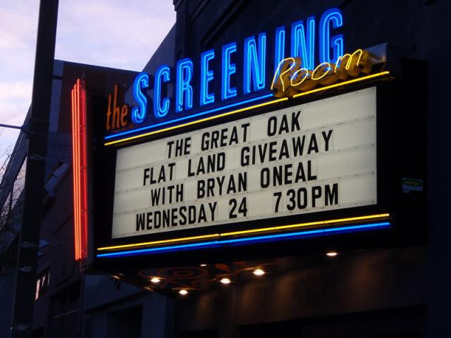 Marquee at the Screening Room 2