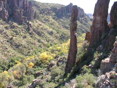 Gaan Canyon (Devil's Canyon) near Oak Flat Campground